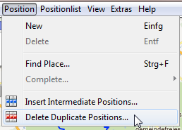 Delete Duplicate positions